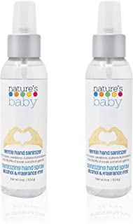 product image for Nature's Baby Hand Sanitizer, Alcohol Free Hand Sanitizer, Fragrance Free, 4 oz Spray, 2 Pack, Over 800 Sprays in Each Bottle.