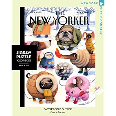 New York Puzzle Company - New Yorker Baby It's Cold Outside - 1000 Piece Jigsaw Puzzle: Toys & Games