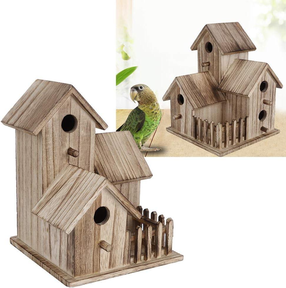per uccelli Casetta per uccelli in legno da appendere per uccelli in giardino giardino decorazione per uccelli selvatici hotel cabina casetta per uccelli
