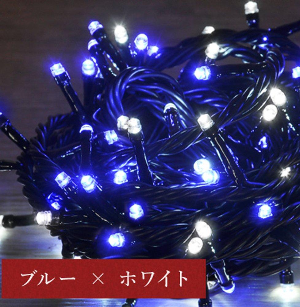iimono117 高輝度 LED イルミネーション リモコン付き [ 6m 100球 ~ 120m 2000球 まで 連結可能 ] 防水 防滴型 IP44 (30m(500球), ブルー×ホワイト) B076KCZFYN 10800 30m(500球)|ブルー×ホワイト ブルー×ホワイト 30m(500球)