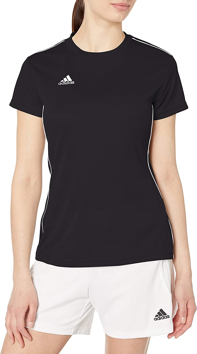 adidas Womens Core 18 Aeroready Primegreen Regular Fit Soccer Short Sleeve Jersey: Clothing