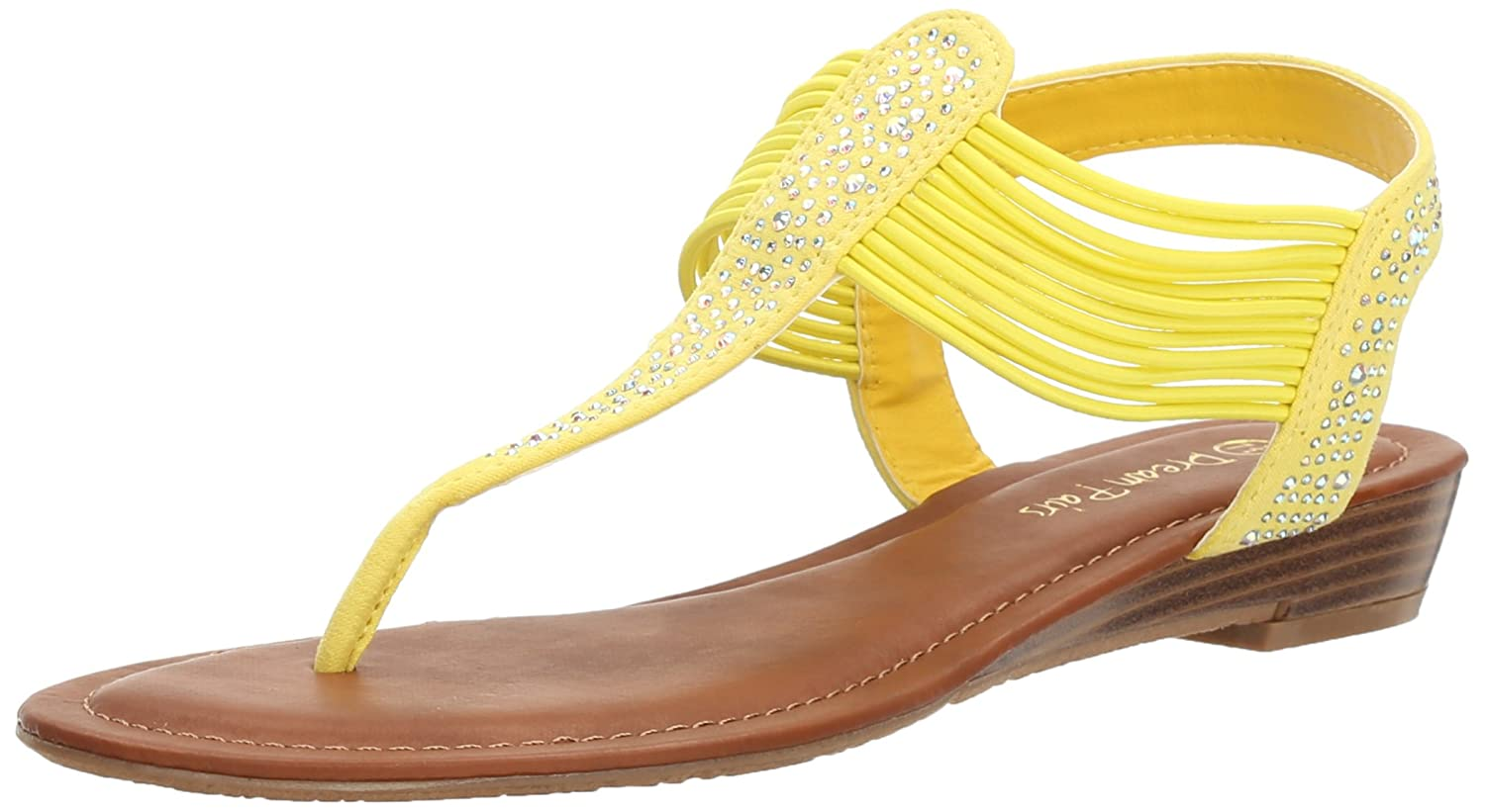 DREAM PAIRS Women's Spark Wedge Sandal B06XDNNYD1 8.5 B(M) US|Yellow Suede