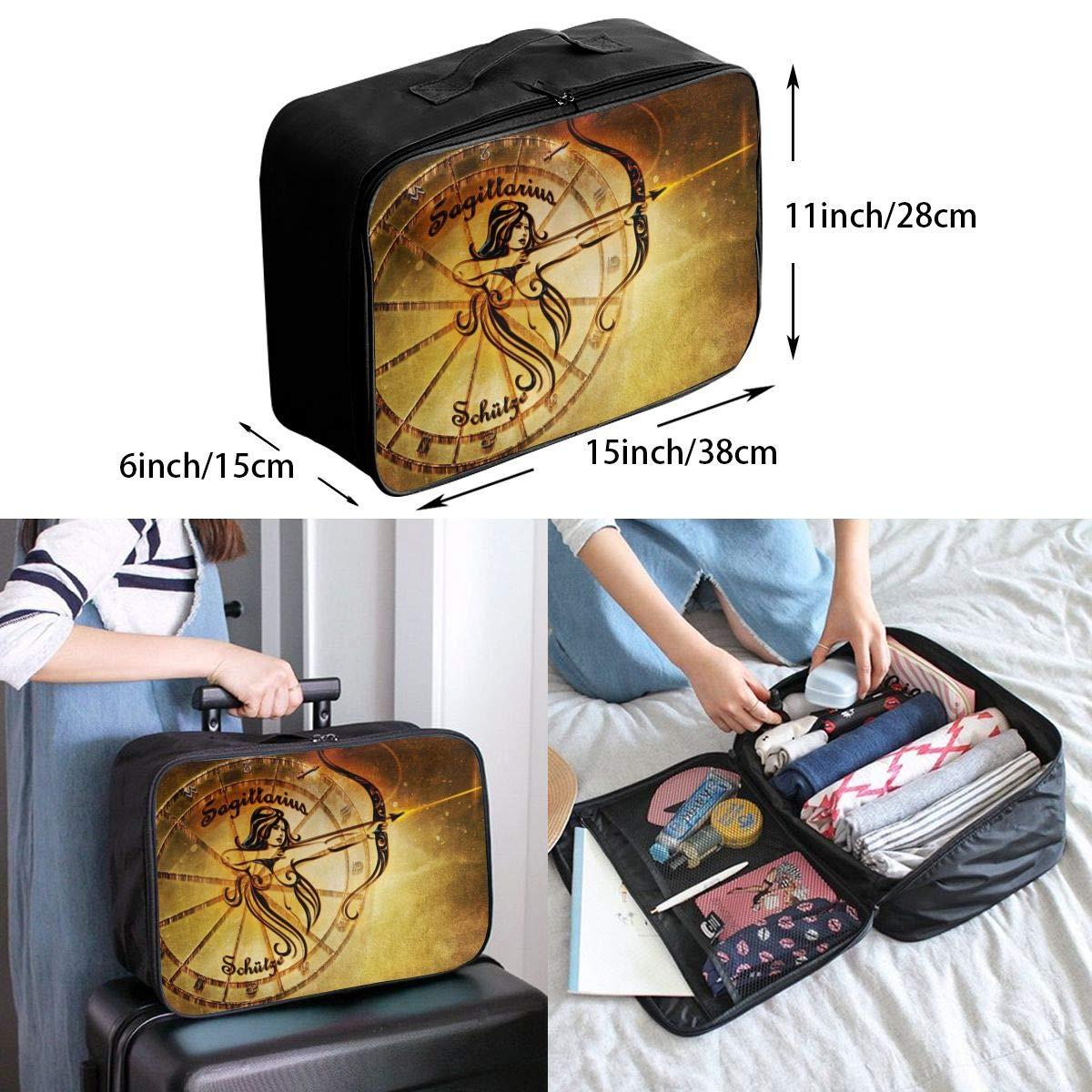 ADGAI Constellation Sagittarius Canvas Travel Weekender Bag,Fashion Custom Lightweight Large Capacity Portable Luggage Bag,Suitcase Trolley Bag
