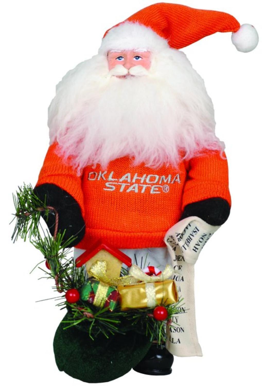 10'' NCAA Oklahoma State Cowboys Gift Bearing Santa Christmas Table Top Figure