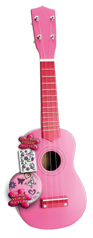 Bontempi–225371–Musikinstrument–Ukulele Holz Lackiert Rosa 22 5371