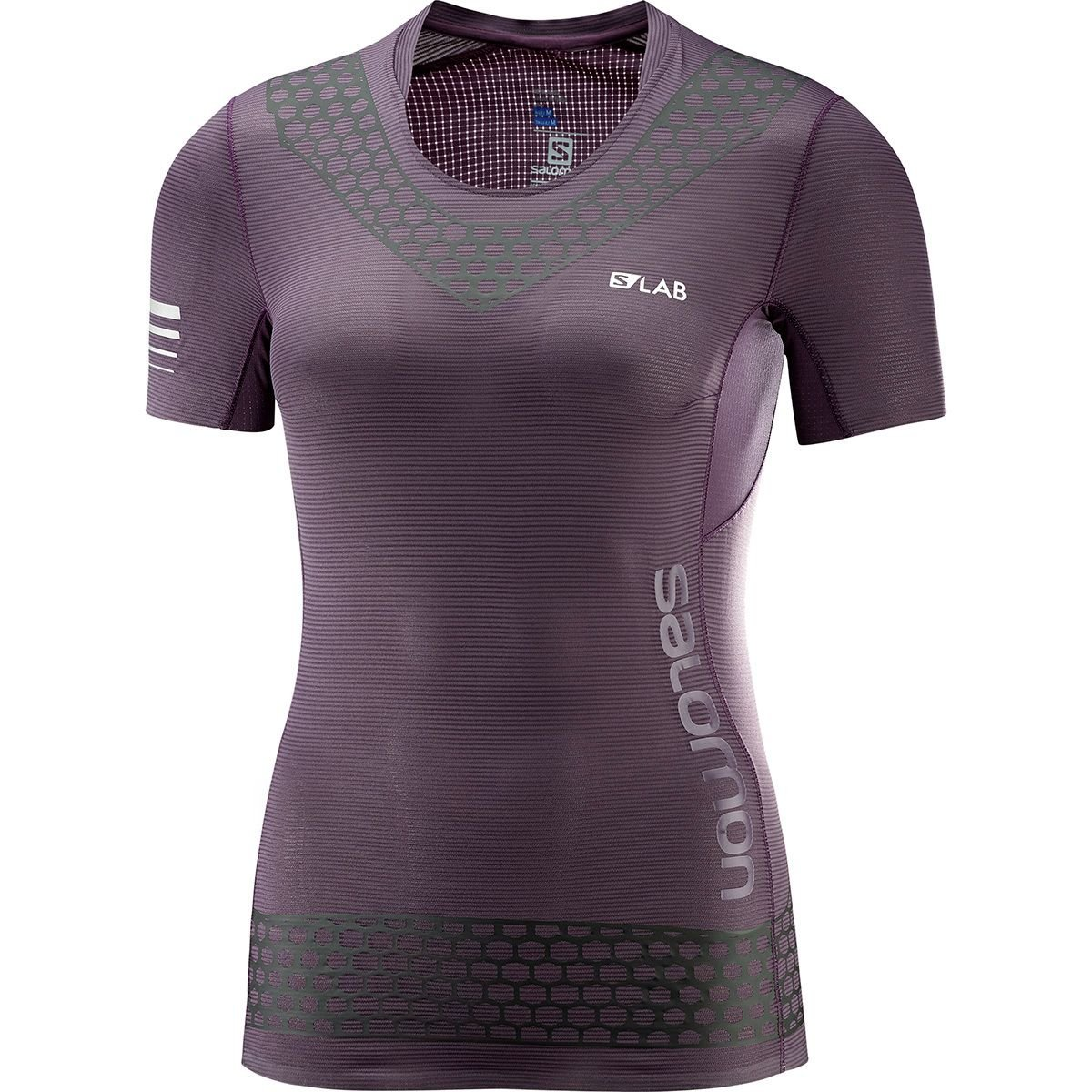 Salomon Women's S-Lab EXO Short Sleeve T-Shirt, Maverick, S