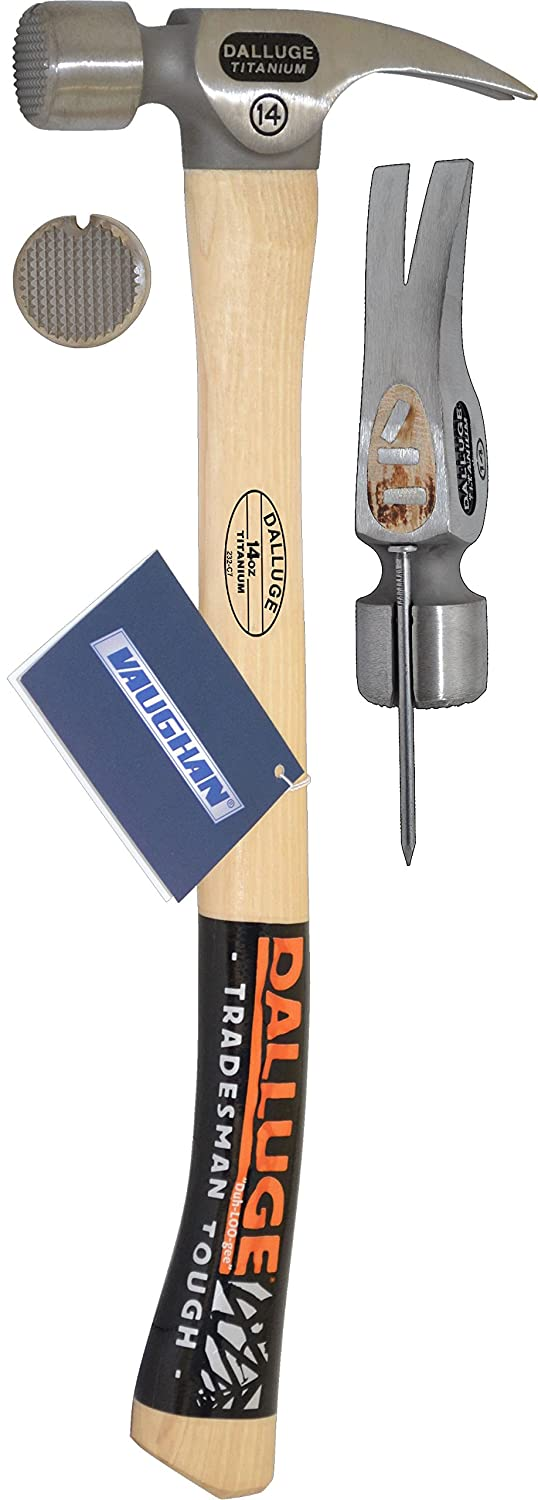 Vaughan 07175 14-Ounce Dalluge Titanium Hammer 19-Inch Curved Hickory Handle