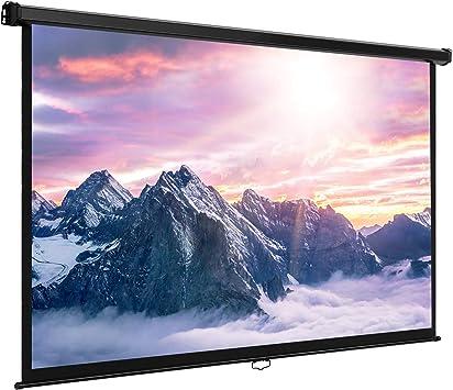 VonHaus – 80 pulgadas pantalla panorámica pantalla para proyector ...