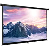 "VonHaus 80 Inch Projector Screen - Manual Pull Down - 80"" Widescreen Indoor Home Theater / Cinema Platform - 16:9 Aspect Ratio Projection Screen - Suitable For HDTV / Sport / Movie / Gaming"