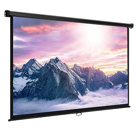 VonHaus - 80 pulgadas pantalla panorámica pantalla para proyector ...