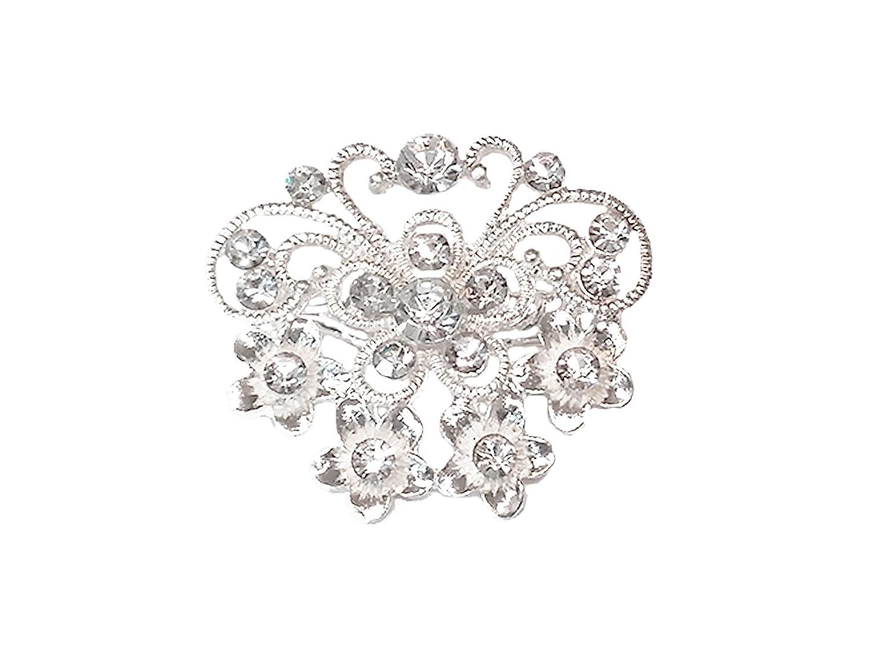 La Loria Accessoires Femme Clips pour chaussures Christal Star clip mariage, vendus par paire JM 100