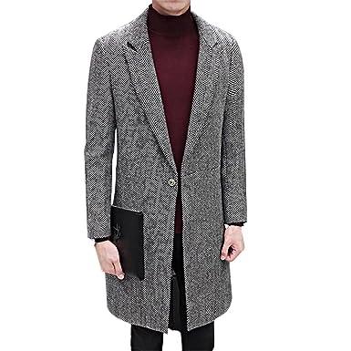Herren mantel grau fischgrat