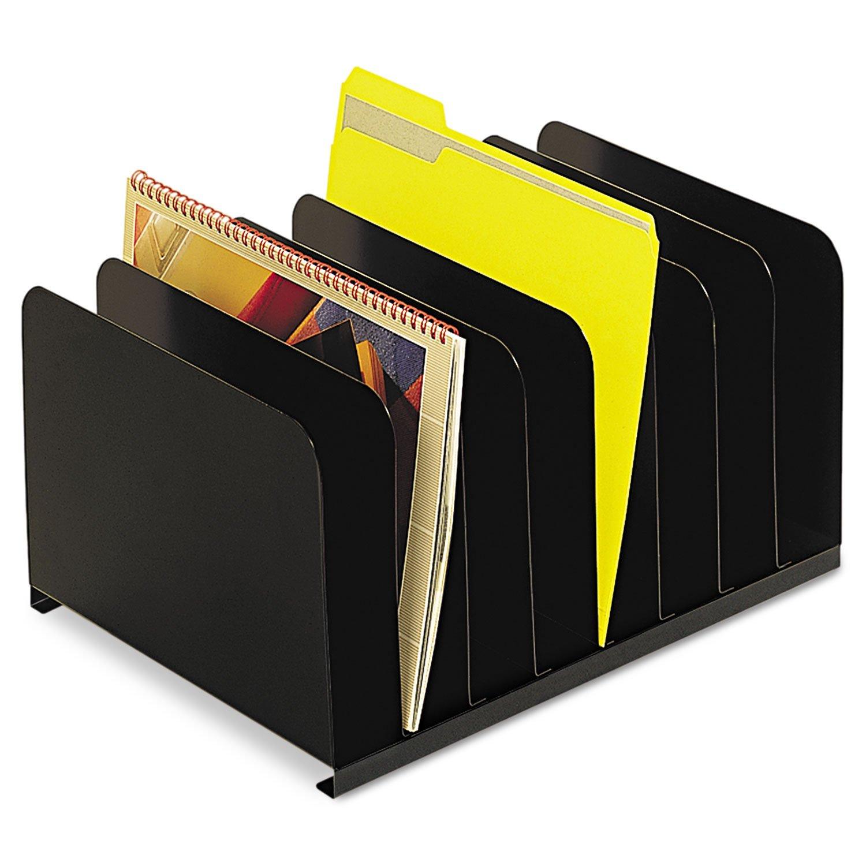 SteelMaster 2648004 Desktop Vertical Organizer, Eight Sections, Steel, 15 x 11 x 8 1/8, Black