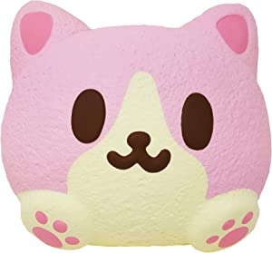 ibloom Kitty Pan Cat Slow Rising Cute Jumbo Squishy Toy (Mimi, Strawberry Scented, 3 Inch) [Kawaii Squishies for Party Favors, Stress Balls, Gift Box, Birthday Gifts for Kids, Girls, Boys, Adults]