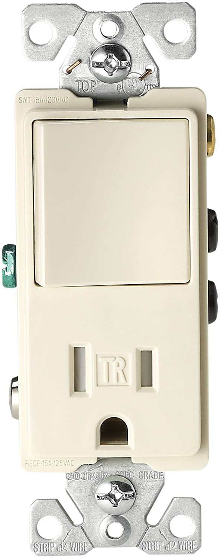 Eaton TR7730W 15-Amp 3-Wire TR Receptacle 120-Volt Decorator ...