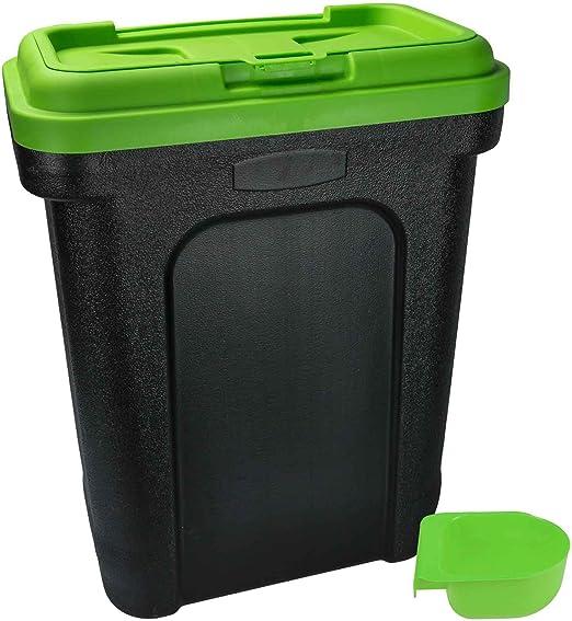 Recipiente grande de almacenamiento de comida para mascotas, 30 litros, para pienso seco, para perros y gatos: Amazon.es: Productos para mascotas