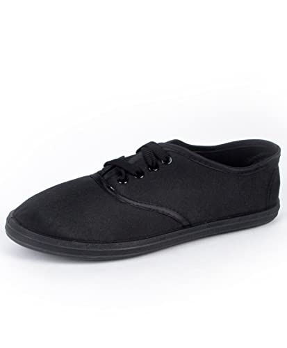 a7e3ed19f1 boxed-gifts Women s Classic Black Canvas Shoes ...
