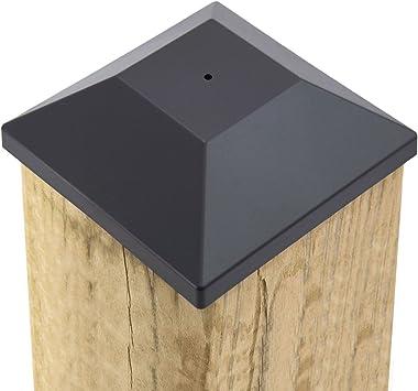 (32 Pack) New Wood Fence Post Black Caps 6X6 (5 5/8