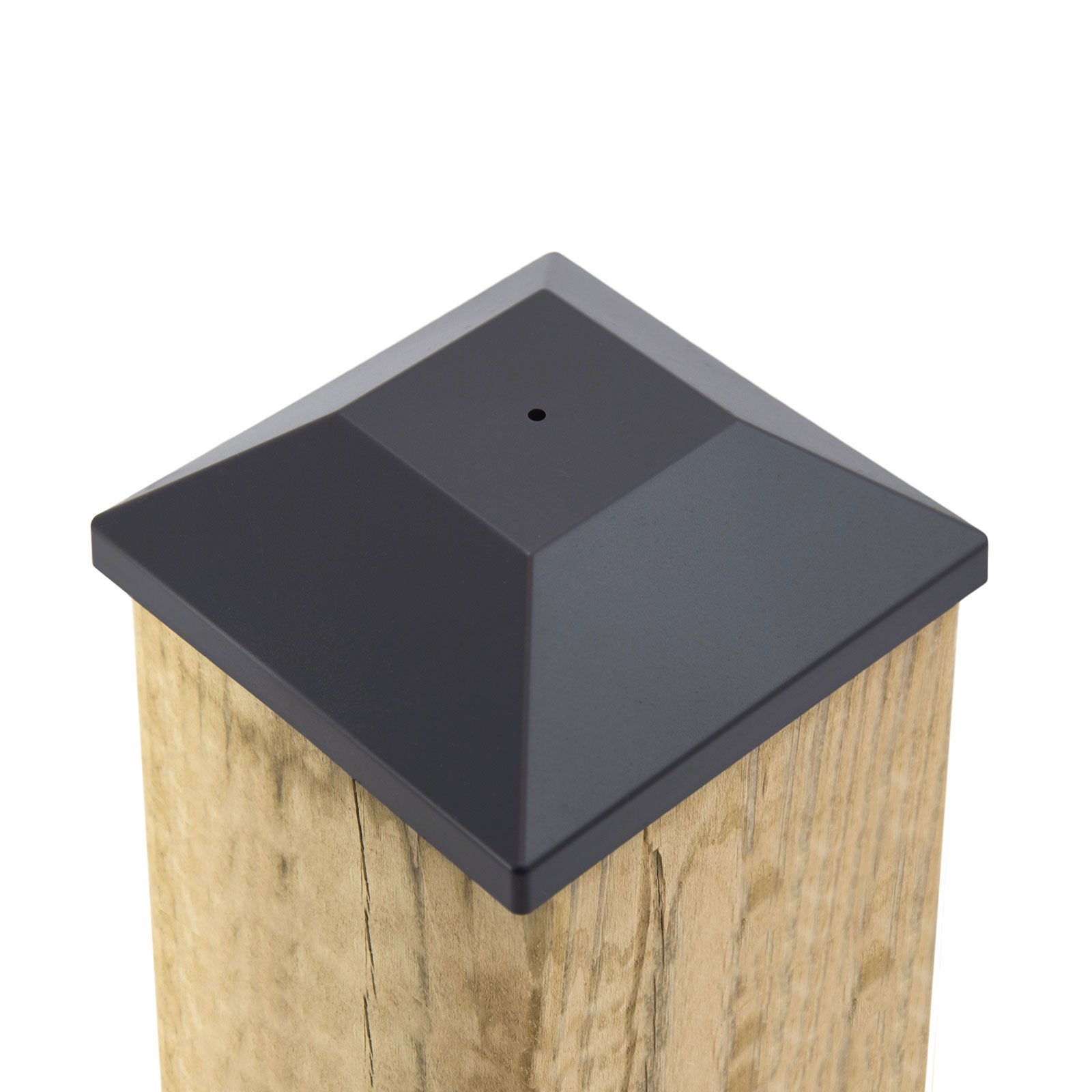 (32 Pack) New Wood Fence Post Black Caps 6X6 (5 5/8'') Pressure Treated Wood Made In USA (32)
