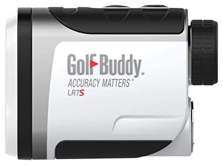 Golf Buddy LR7S Compact Easy-to-Use Laser Rangefinder Slope Feature On Off Function, White Black, Small