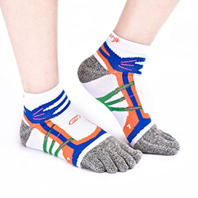 Five Finger Toe Socks Hemp Soft & Breathable Antibacterial Deodorant Running Crew Socks for Mens