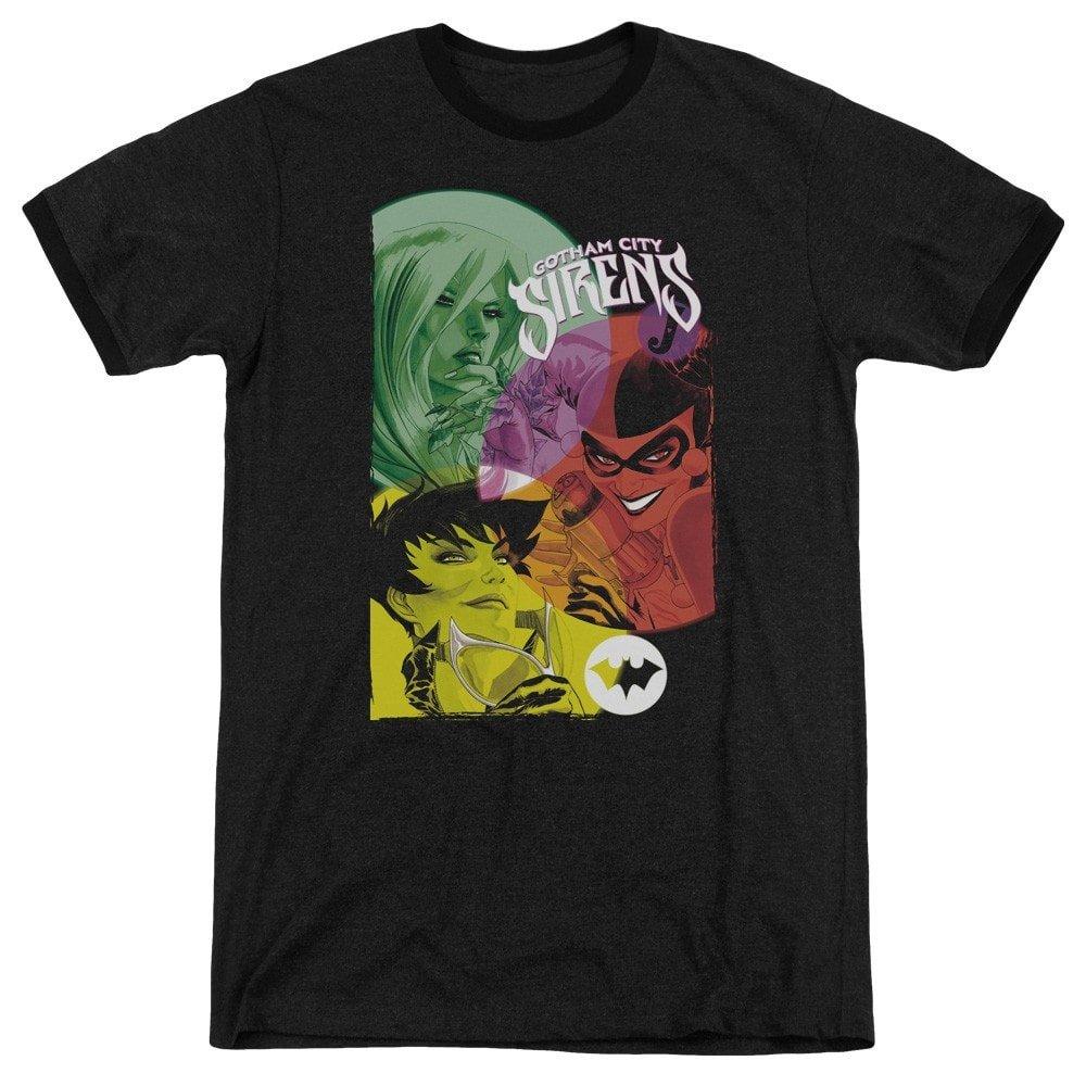 Shirt L Batman Gotham Sirens Adult Ringer T