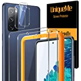 [2+2 Pack] UniqueMe Camera Lens Protector and Screen Protector for Samsung Galaxy S20 FE 5G/ Fan Edition 5G,Termperd Glass HD