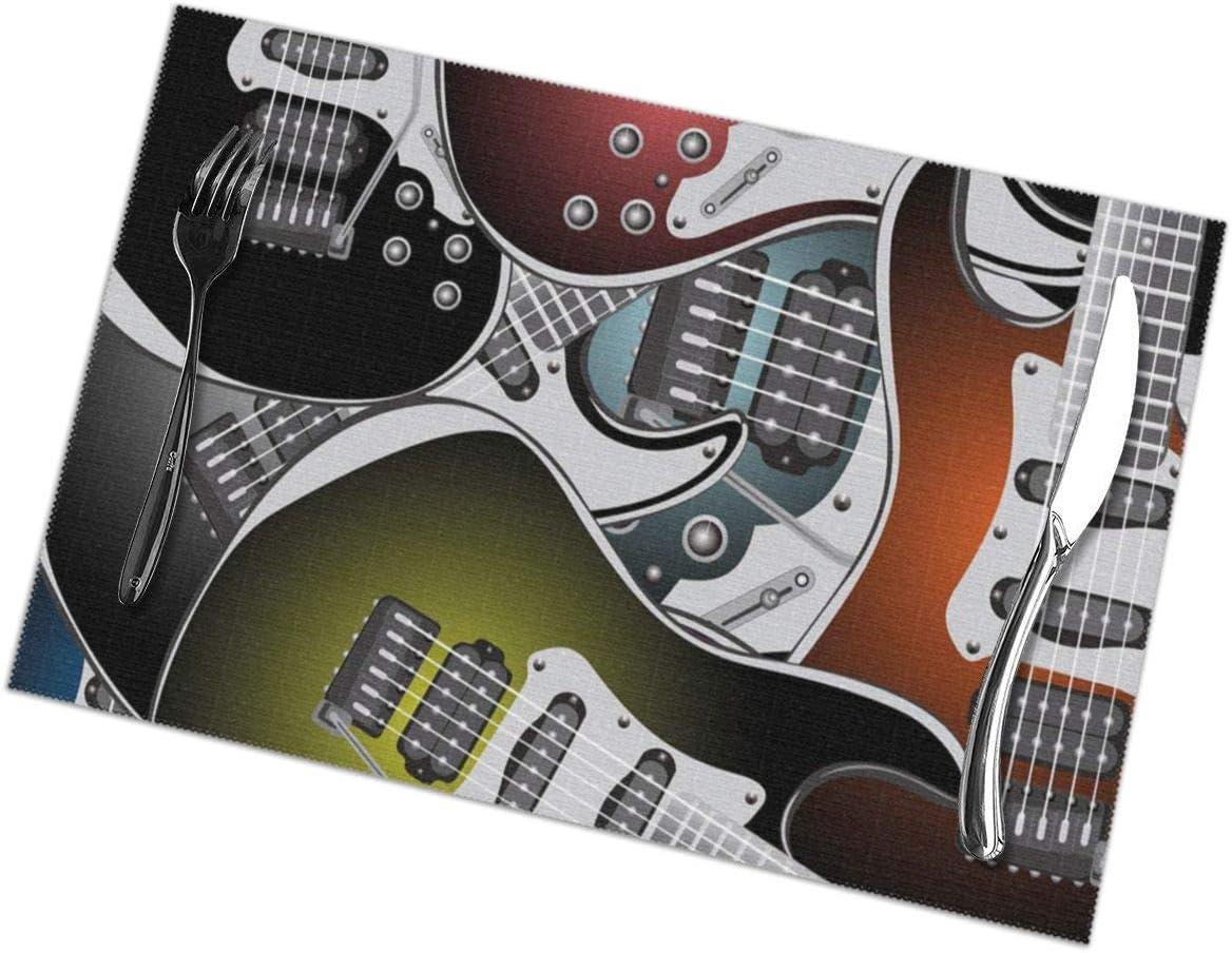 Strawberryran Popstar Party Pila de gráficas Coloridas Guitarras eléctricas Música Rock Instrumentos de Cuerda 12 X 18 en Juego de 4