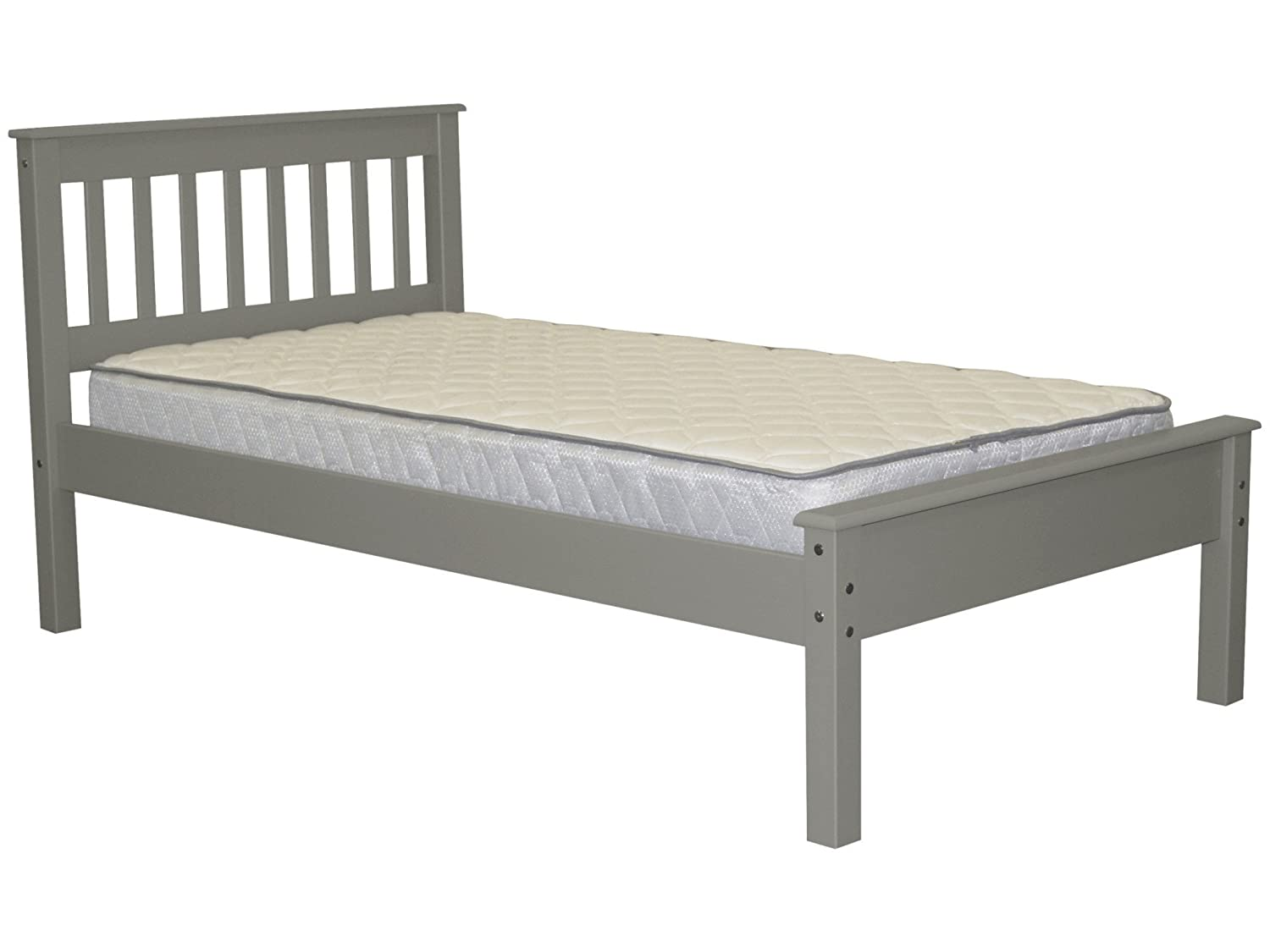 Bedz King Mission Style Twin Bed, Gray