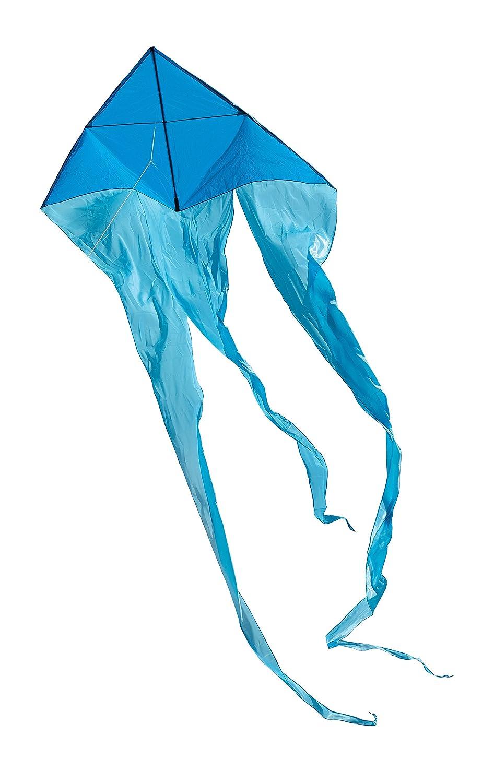 in The Breeze 3227 Blue 77 Wave Delta - Single Line Kite - Kite Line Bag Included - Combination Ripstop Taffeta Fabric