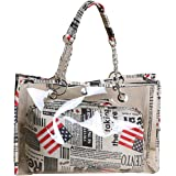 Felice Clear Purse PVC Waterproof Beach Shoulder Bag with Interior Pocket