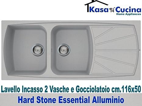 Lavello incasso cucina Hard Stone Essential Fragranite 2 Vasche e ...