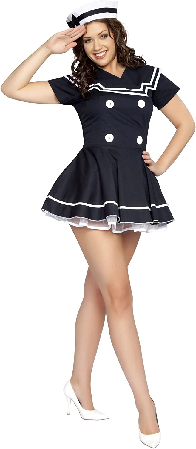 2 Piece Pin-Up Captain Costume