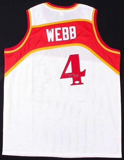 c2628f74b89 Signed Spud Webb Jersey - Custom) - Coa! - JSA Certified - Autographed NBA