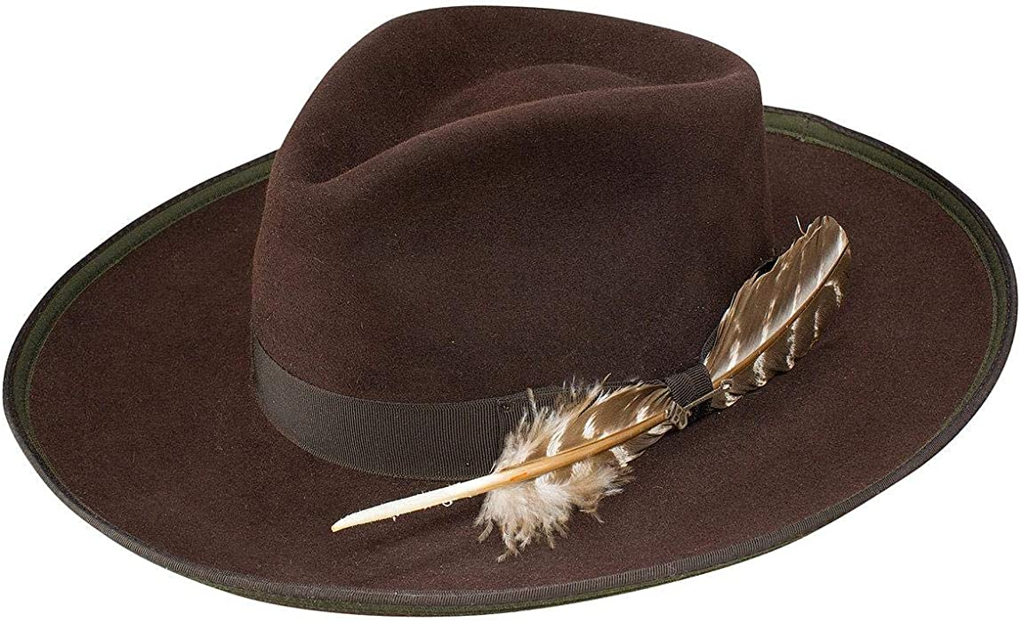 8c5b0d570f33c Stetson Men s Renegade Royal Deluxe Felt Hat Chocolate 7 at Amazon ...