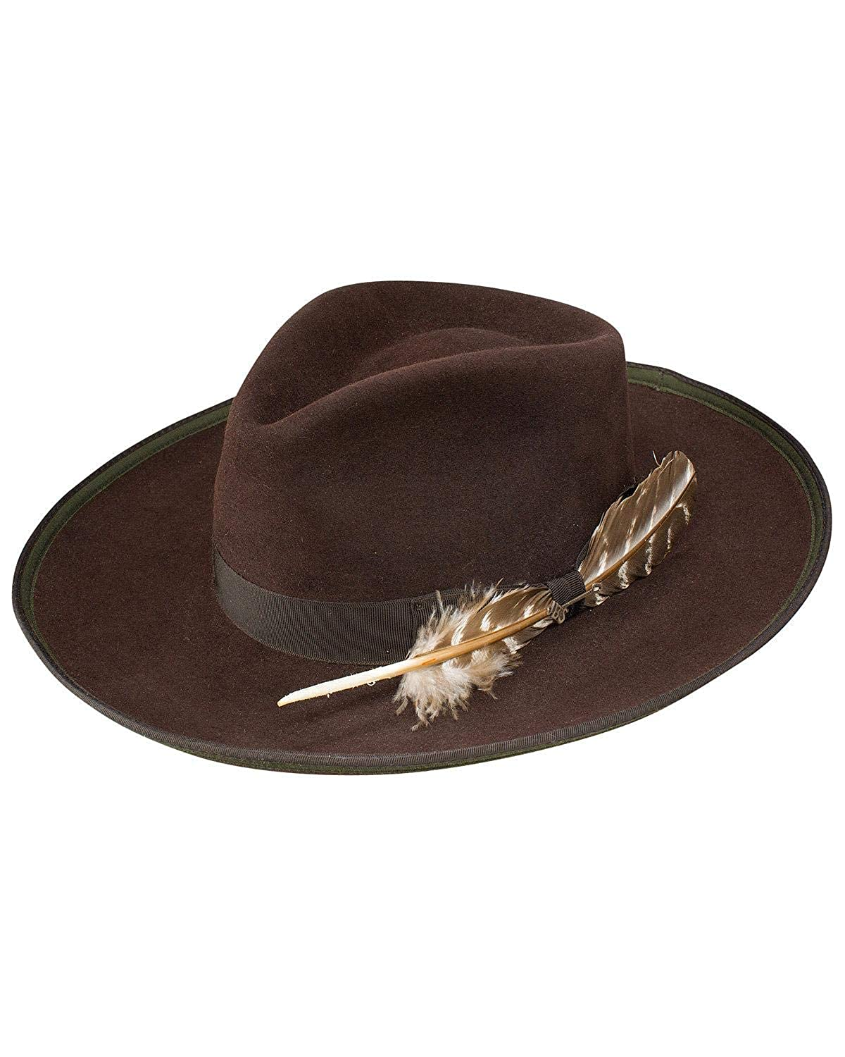 Stetson Mens Renegade Royal Deluxe Felt Hat Chocolate 7 5//8