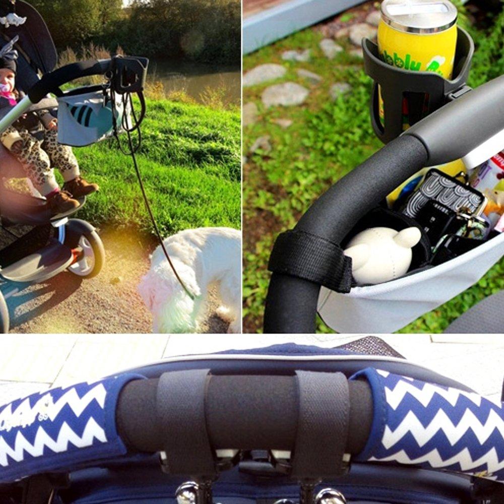 Isuper Aufbewahrungstasche Kinderwagen Universal Anh/ängetasche mit 4 F/ächer f/ür Kinderwagen Kuh Kinderwagen Organizer