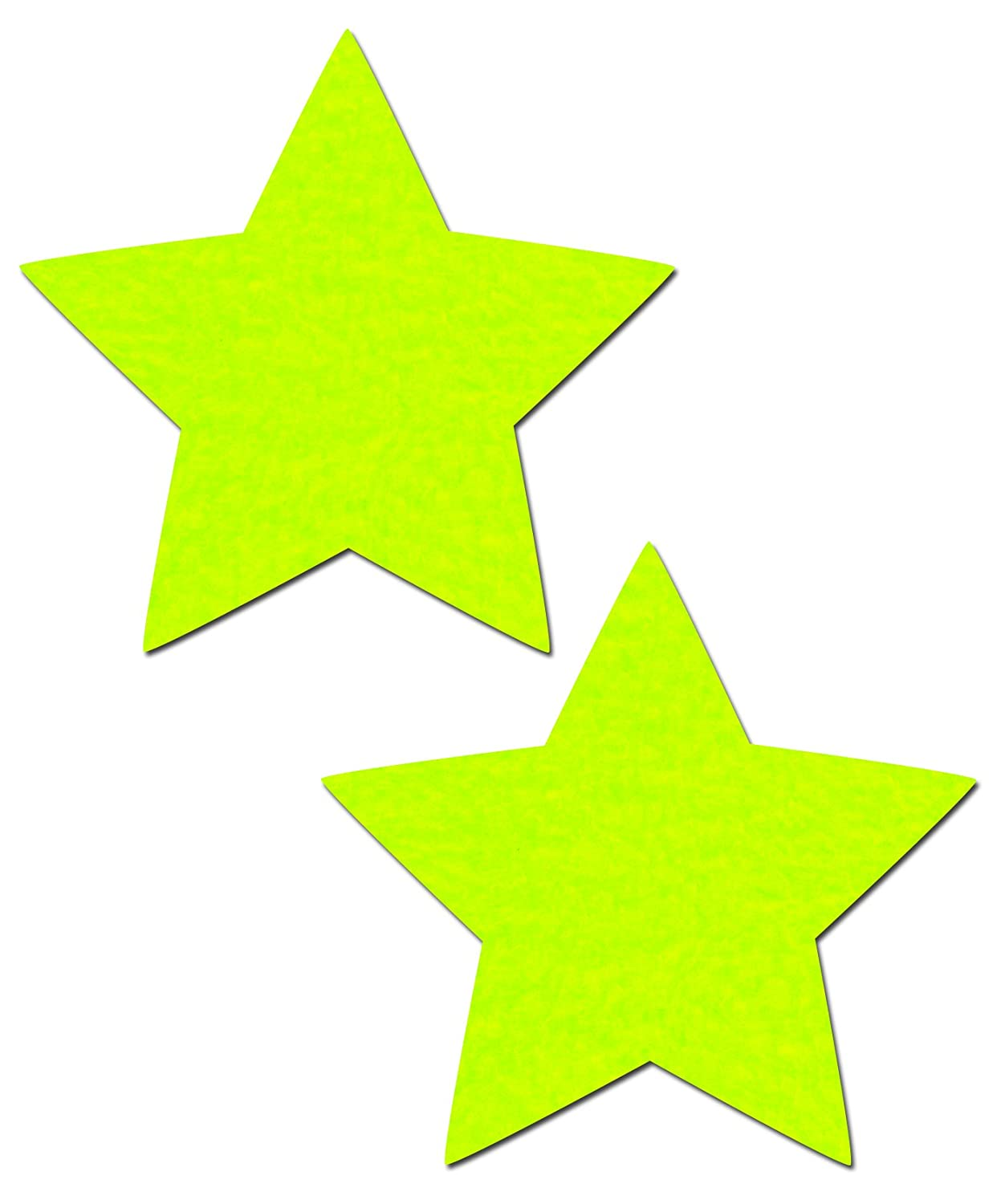 Neon Yellow Rockstar Star Nipple Pasties by Pastease® o/s STR-NYL