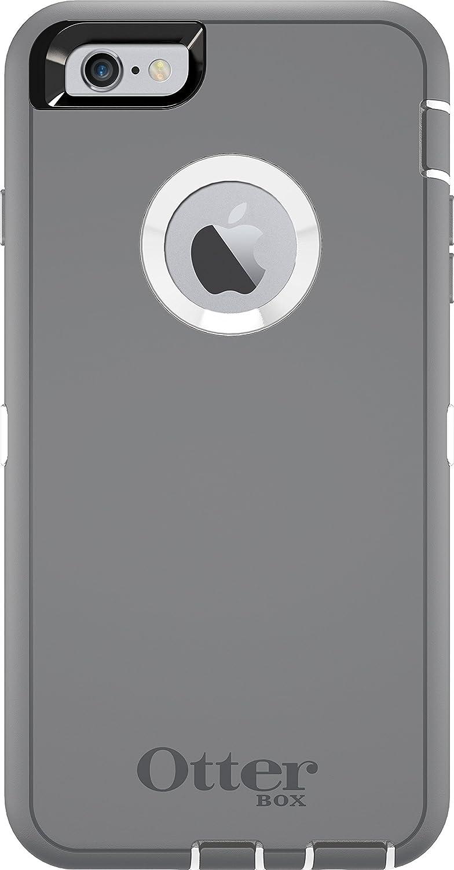 OtterBox DEFENDER iPhone 6 Plus/6s Plus Case - Retail Packaging - GLACIER (WHITE/GUNMETAL GREY)