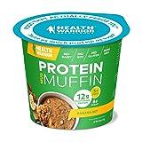 HEALTH WARRIOR Protein Mug Muffins, Banana Nut, 12g Plant-Based Protein, Gluten Free, Vegan, Low Sugar, Non-GMO, 2.01oz cups
