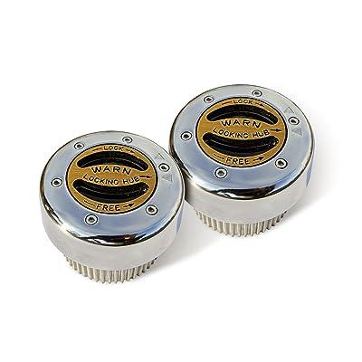 WARN 38826 Premium Manual Locking Hub with Zinc Aluminum Alloy Dial, Dual Seals and 30 Splines, Chrome, 1 Pair: Automotive