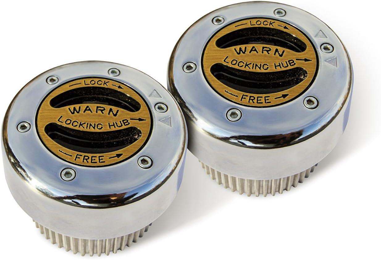 B000182F22 WARN 38826 Premium Manual Locking Hub with Zinc Aluminum Alloy Dial, Dual Seals and 30 Splines, Chrome, 1 Pair 71REHBE2B0ZL
