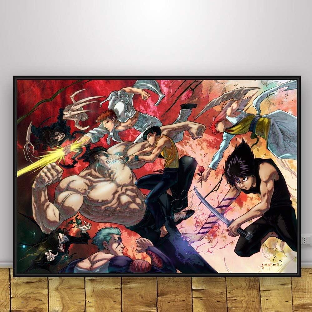 Ami0707 YuYu Hakusho Kunst Anime Poster drucken Leinwand Malerei Wanddekoration Poster Wandbild f/ür Wohnzimmer50cmx75cm No Frame