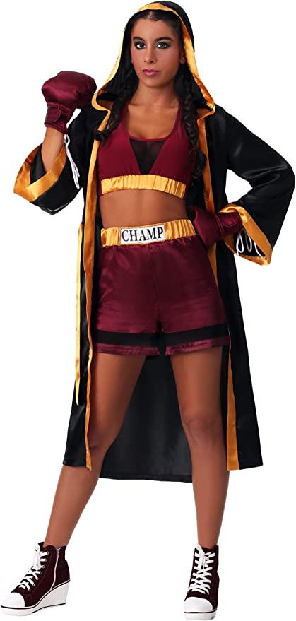 Women's Tough Boxer Costume Boxing Robe Costume for Women