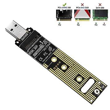 QNINE Adaptador NVME a USB, M.2 SSD a Tarjeta de Tipo A (no se ...