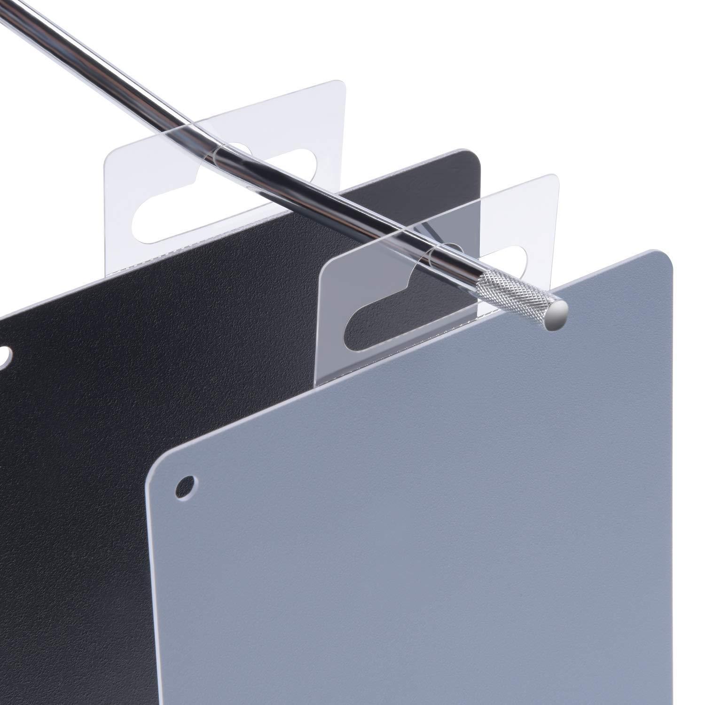 colore: trasparente Confezione da 120 ganci flessibili con angoli appuntiti con foratura europea per parete forata Hang Tabs