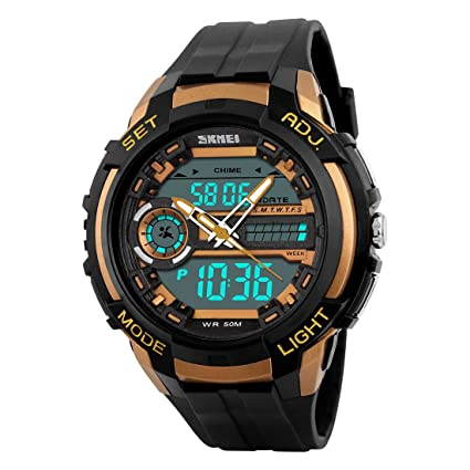 5ec342a80d2 Addic Analogue-Digital Gold Dial Men s   Boy s Watch - Skmeimw54 ...