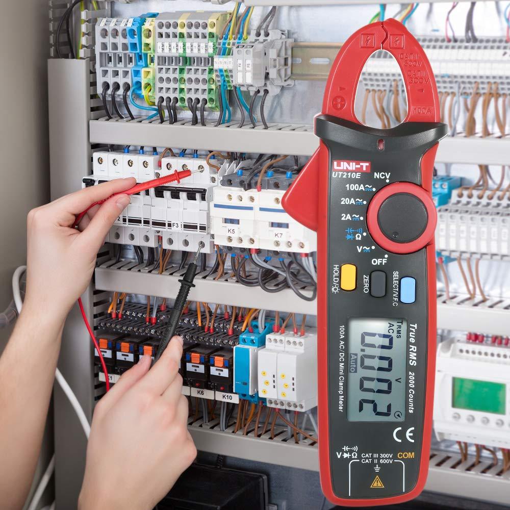 UNI-T AC//DC Polimetro Clamp Tester LCD Amperimetro//Voltimetro//Ohm//Capacimetro Pinzas Profesional Roeam Mult/ímetro con Pinza Amperimetrica Bolsillo Digital Comprobador Corriente Electricistas