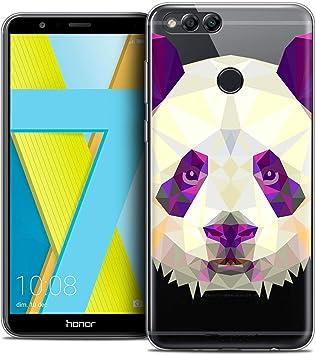 Caseink Coque Pour Huawei Honor 7x 59 Housse Etui Crystal Gel Hd Polygon Series Animal Souple Ultra Fin Imprimé En France Panda