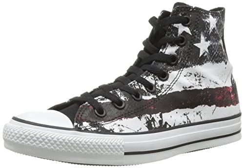 Unisex Converse All Star Destroyed American Flag White